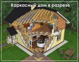 Проекты каркасных домов до 150 кв.м