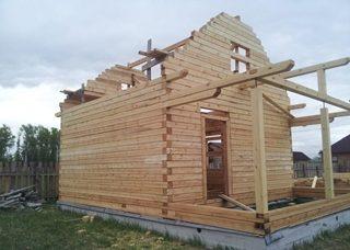 Фото процесса строительства бань с мансардой в Воронеже