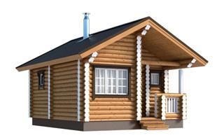 Проекты двухэтажных домов из бревна в Воронеже