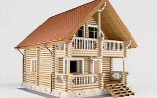 Проекты домов 5х5 из оцилиндрованного бревна в Воронеже