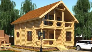 Проекты домов 5х6 из оцилиндрованного бревна в Воронеже