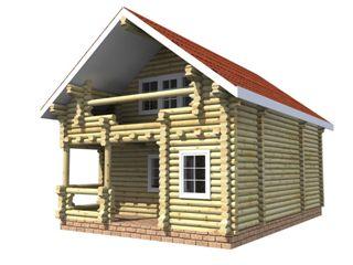 Проекты домов 6х6 из оцилиндрованного бревна в Воронеже
