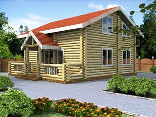 Проекты домов 6х7 из оцилиндрованного бревна в Воронеже