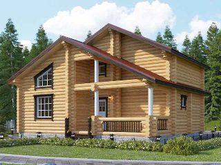 Проекты домов 6х9 из оцилиндрованного бревна в Воронеже