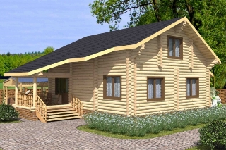 Проекты домов 7х8 из оцилиндрованного бревна в Воронеже