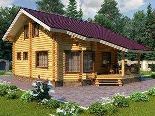 Проекты домов 7х9 из оцилиндрованного бревна в Воронеже
