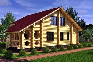 Проекты домов 8х8 из оцилиндрованного бревна в Воронеже