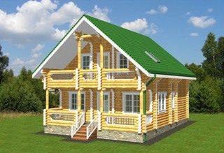 Проекты домов 8х9 из оцилиндрованного бревна в Воронеже