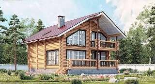 Проекты домов 8х10 из оцилиндрованного бревна в Воронеже