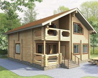 Проекты домов 9х10 из оцилиндрованного бревна в Воронеже