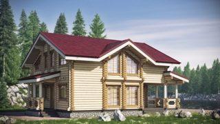 Проекты домов 10х10 из оцилиндрованного бревна в Воронеже