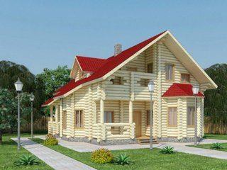 Проекты домов 11х11 из оцилиндрованного бревна в Воронеже