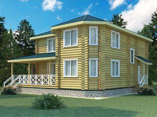 Проекты домов 12х12 из оцилиндрованного бревна в Воронеже