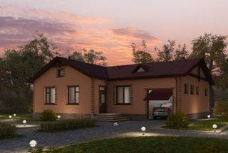 Проекты одноэтажных домов из кирпича в Воронеже