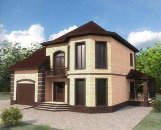 Проекты двухэтажных домов из кирпича в Воронеже