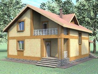Проекты домов из кирпича 7х8 в Воронеже