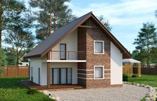 Проекты домов из кирпича 8х9 в Воронеже