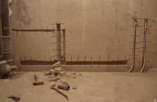 Фото процесса Штробление стен в Воронеже