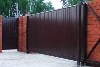 Металлические откатные ворота в Воронеже