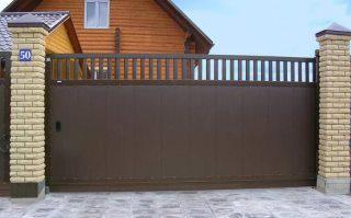 Фото процесса производства Металлические откатные ворота в Воронеже