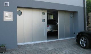 Фото процесса производства Откатные ворота гаражные в Воронеже