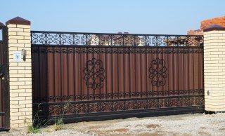 Кованые ворота откатные в Воронеже