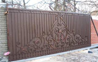 Фото процесса производства Кованые ворота откатные в Воронеже