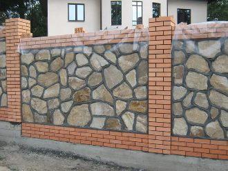 Забор из камня под ключ в Воронеже