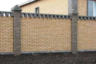 Кирпичный забор под ключ в Воронеже