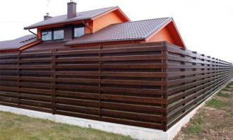 Деревянный забор под ключ в Воронеже